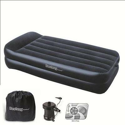 cama inflable individual con bomba exterior 220 v.  191x97x46 cm.  BESTWAY