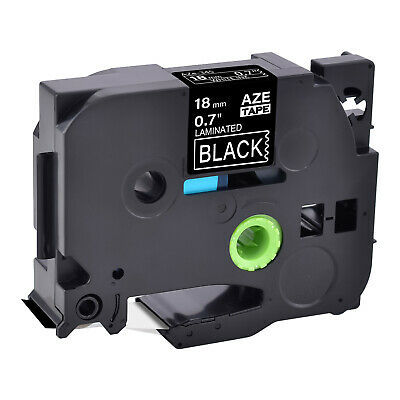 TZe-345 TZ-345 18mm White on Black Label Tape For Brother P-Touch PT1700 PT1950