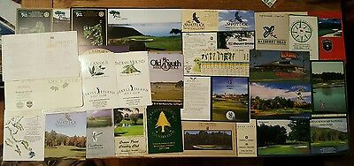 golf scorecards lot 100+ different unused great courses included