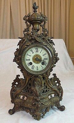 Antique French Ornate Mantle Clock