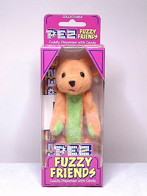 Pez Fuzzy Friends TJ Bear Cuddy Dispenser With Backpack Clip
