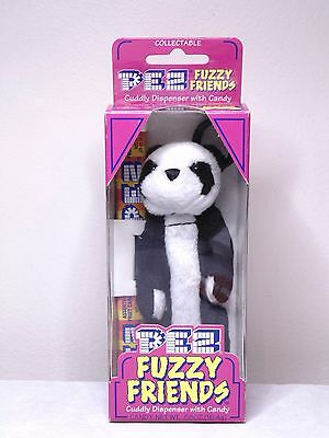 Pez Fuzzy Friends Jade Bear Cuddy Dispenser With Backpack Clip
