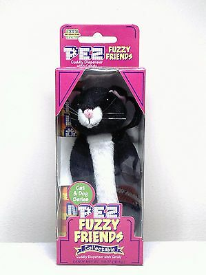 Pez Fuzzy Friends Boo The Cat Cuddy Dispenser With Backpack Clip