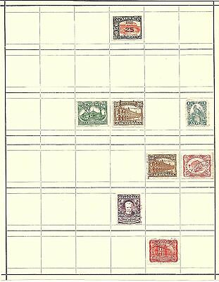 (R) Guatemala Classic Stamps Hinged On Page