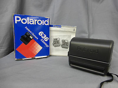 POLAROID 636 CLOSEUP INSTANT CAMERA - BOXED Tested & Working (Takes 600 Film)