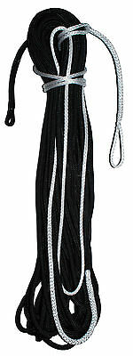 10mm x 28m Dyneema Tapered & Spliced Racing Yacht Halyard or Sheet - Solid Black