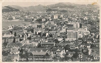 1940s WWII  RPPC  Wellington, New Zealand from Tinkori Hill