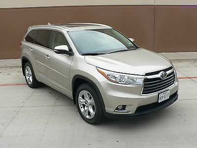 2015 Toyota Highlander Limited Sport Utility 4-Door 2015 LIMITED PLATINUM AWD WARRANTY EVERY POSSIBLE OPTION 7 PASS PERFECT CARFAX