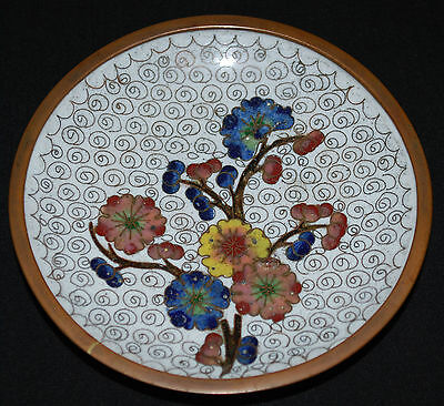 Vintage Oriental/Chinese Handcrafted Mini Cloisonne Dish/Plate