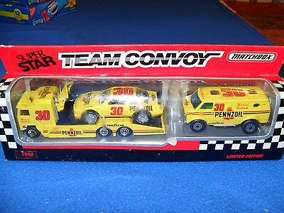 1992 Matchbox Pennzoil Super Star Team Convoy Michael Waltrip Limited Edition