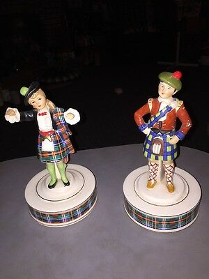 Vintage schmid bros Musical Figures Man And Woman Scottish