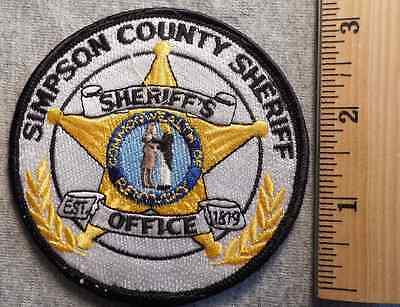 Simpson County Kentucky Sheriff Patch (Highway Patrol, Sheriff, Ems, State)