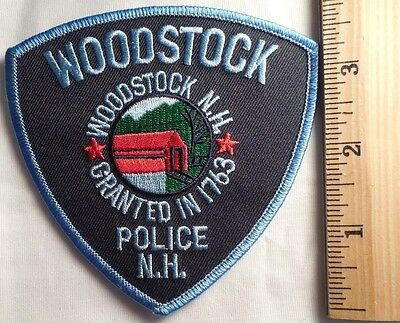 Woodstock New Hampshire Police Patch (Highway Patrol, Sheriff, Ems)