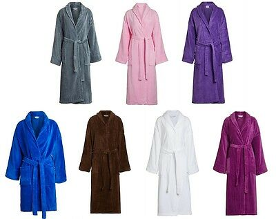 bdeef4c66c Plush Terry Cloth Velour Bathrobe w Shawl Collar Mirko Spa Quality Robe  Unisex