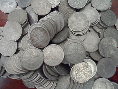 Dirty British Lucky Sixpence Coins  - 1947 - 1967 -  Slot Machines