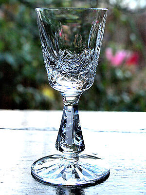 Waterford Crystal Signed Kenmare Cordial  Glass/ Glasses Vintage
