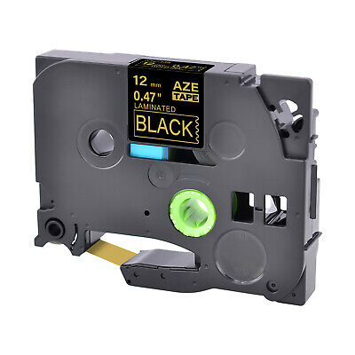 TZe-334 TZ-334 12mm Gold on Black Label Tape For Brother P-Touch PT-1830SC 2200