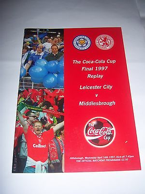 1997 COCA-COLA (LEAGUE) CUP FINAL REPLAY - LEICESTER CITY v MIDDLESBROUGH