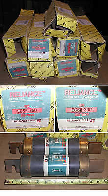LOT OF 9 RELIANCE TIME DELAY CLASS RK5 FUSES 6-ECSR 250 &3-ECSR 300 AMP electric