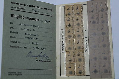 Germany Third Reich 1940/41 Paperwork Kath Ackermann A48 Cg30