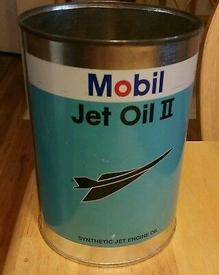 Mobil Jet Oil Ii Can Authentic Collector's Item, Circa 2001 Exxonmobil Chemical
