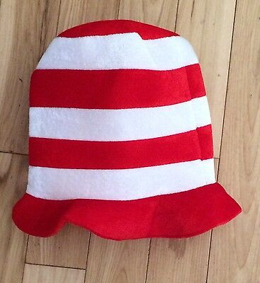 Dr. Suess Cat in the Hat Look Alike Halloween Hat - Not Genuine Dr. Suess