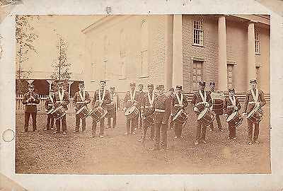 Antique Photograph BROOKLYN NEW YORK MARCHING BAND Drum Corps African American