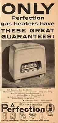 1954 vintage appliance ad, Perfection Home Gas Heaters- 121512