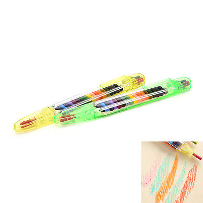 20 Colour Oil Pastel Crayons Pen Stationery Cartoon Children Gift AU