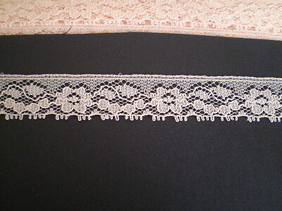 10 metres x 18mm  of pretty beige/faun coloured lace