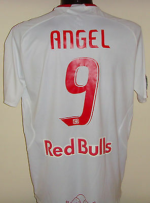 Juan Pablo Angel Colombia New York Red Bulls v Barcelona match worn shirt maglia