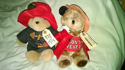 1975 Paddington Bears With 30Th Anniversay And Tags~~ Qty 2