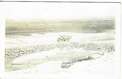 Vintage RPPC Postcard - Smooth and Harden, Fort Randall Dam - c.1950