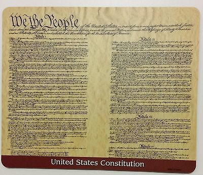 Computer Mousepad US constitution educational gift new PC mat
