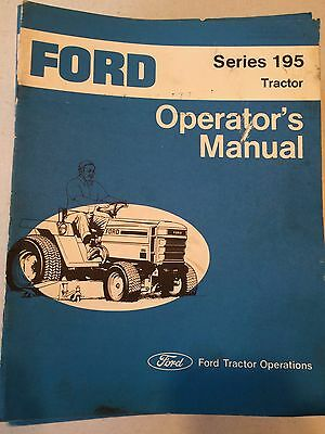 Ford Series 195 Lawn and Garden Tractor Operators Manual