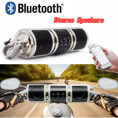 Bluetooth Motorcycle Handlebar Audio Amplifier Stereo Speaker System MP3 USB/TF