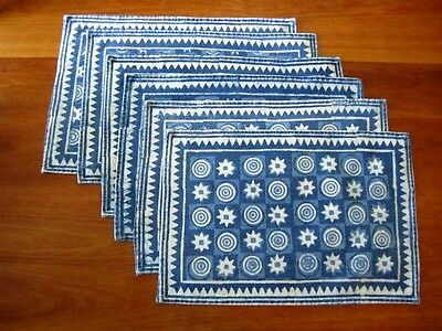 Vintage Batik 12 x 18 Placemats, India, set of 6
