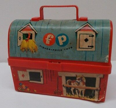 Vintage Fisher Price Mini Plastic Toy Lunch Box Collectibles
