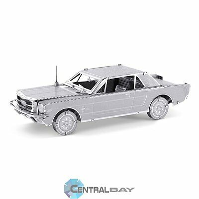 Centralbay.it Metal Earth 1965 Ford Mustang Coupe Silver Edition