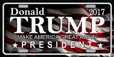 Donald Trump President Make America Great Again Metal Novelty License Plate Tag