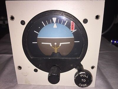RC Allen 28 volt Electric Attitude Indicator w/Backlight Works Bell Helicopter