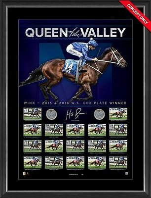 Winx Signed Queen of the Valley Dual Cox Plate Official Signed Print Framed
