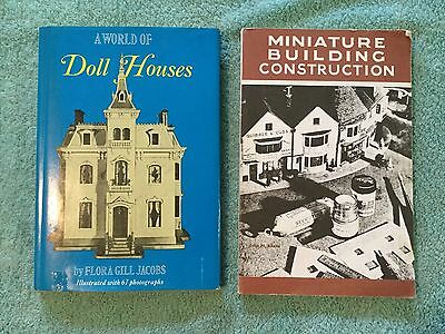 2 Books A World Of Doll Houses Doll House F. Jacobs Miniature Building J. AHERN