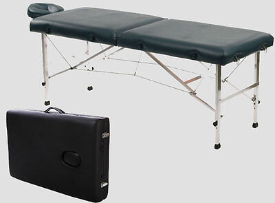 """Aluminum 84""""L Portable Massage Table Facial SPA Bed Tattoo w/Free Carry Case"""