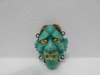 Antique Japanese NOH Theater Mask Charms Porcelain