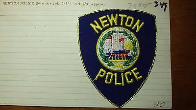 Newton  New Hampshire Police Department Salesman Copy Obsolete Patch Bxsp#349