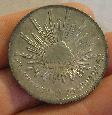 Mexico - 1837 ZsOM Large Silver 8 Reales - Nice Coin!