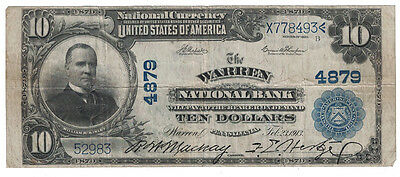 U.S. (Warren, PA) - Series of 1902 $10.00 National Currency Banknote