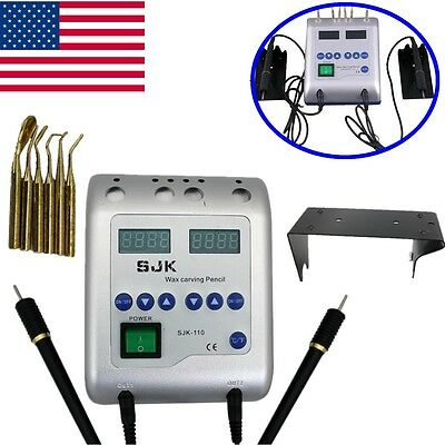 NEW!Dental Lab Digital Electric Wax Waxer Carver Double Carving Pen/pencil 6 Tip