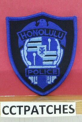 Honolulu, Hawaii Police Subdued Blue (Small) Shoulder Patch Hi